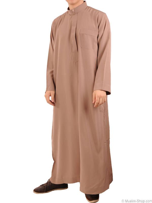 herren qamis stehkragen taupe 29 00 muslim shop gro e aus. Black Bedroom Furniture Sets. Home Design Ideas