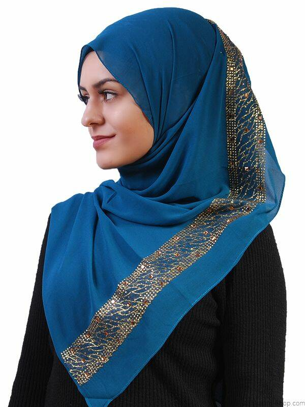 schal mit gold glitzer petrol 7 90 muslim shop gro e aus. Black Bedroom Furniture Sets. Home Design Ideas