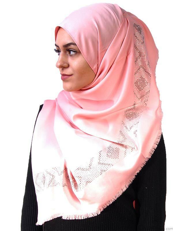 trendy schal mit glitzer rosa 8 90 muslim shop gro e auswa. Black Bedroom Furniture Sets. Home Design Ideas