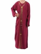 Abaya Muslima Girl bordeaux 4