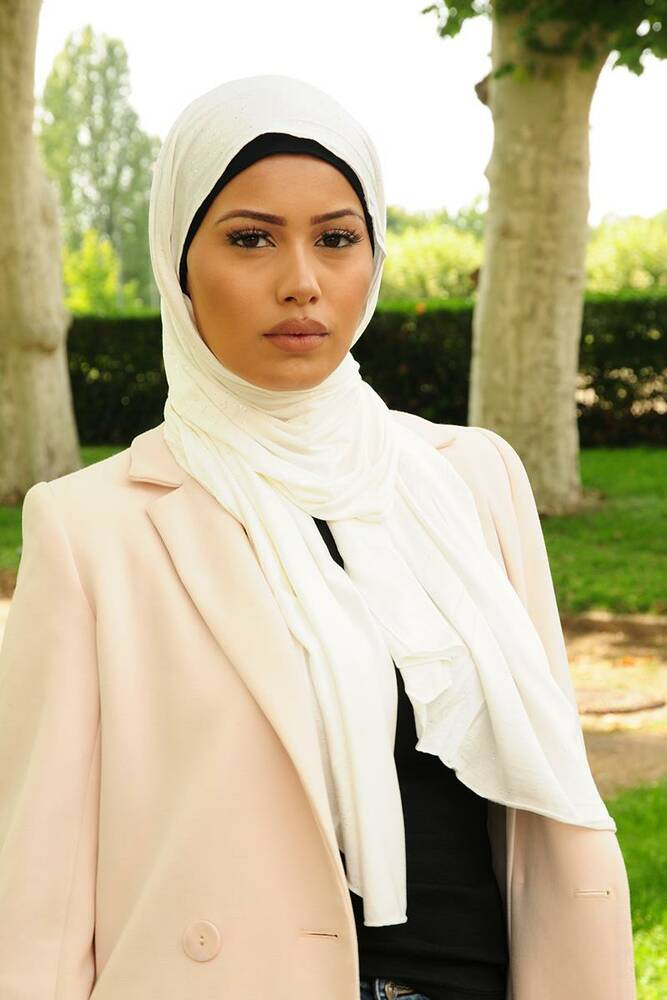 perfekte Qualität gut aussehend kommt an Glitzerschal naturweiss, 5,95 € - Muslim Shop – Große Auswahl un